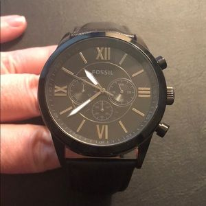 Fossil Flynn Chronograph Watch w/ Black strap